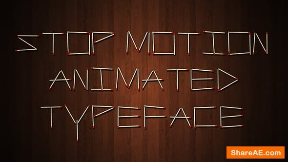 Videohive Stop Motion Typeface