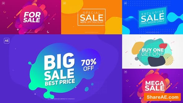 Videohive Colorful Book Sale Abstract
