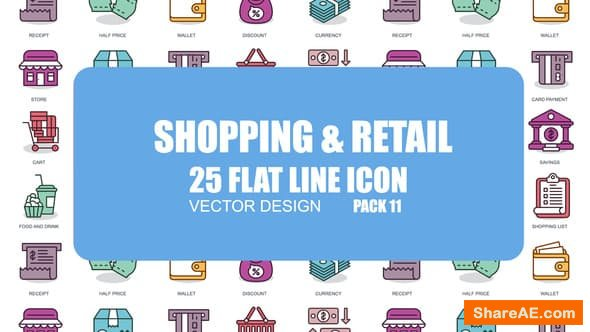 Videohive Shoping And Retail - Flat Animation Icons