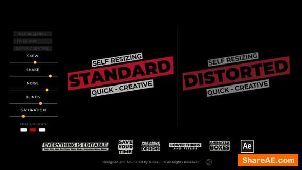Videohive Title Box - Auto Resizing Titles and Lower Thirds