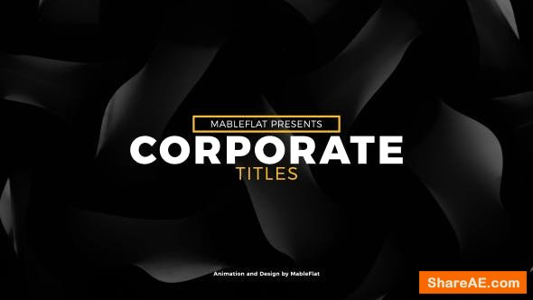 Videohive Corporate Titles 21418668