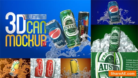 3D Aluminium Pop Top Soda Drink Can 2.0 - After Effects Project (Videohive)
