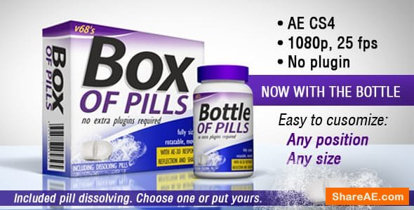 Videohive 3D Medicine Box And Bottle
