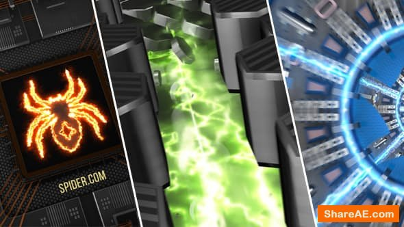 Videohive 3 Hi-Tech Electric Logo Openers