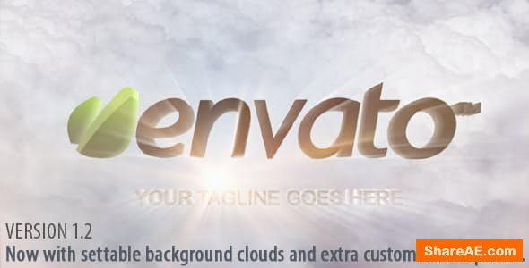 Videohive Clouds and Shiny Logo Reveal