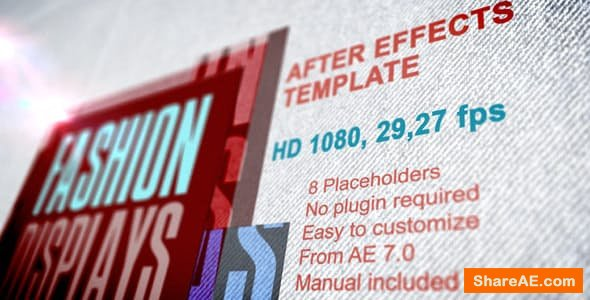 Videohive Fashion Displays with Text Presentation