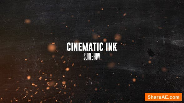Videohive Cinematic Ink Slideshow 13002374