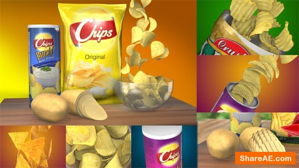 Videohive 3D Chips Commercial