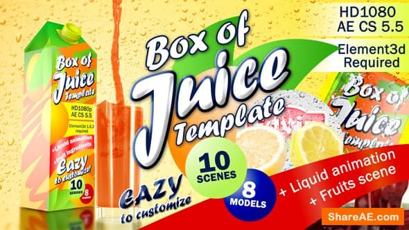 Videohive Box of Juice Template