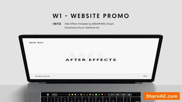 Videohive W1 - Website Promo