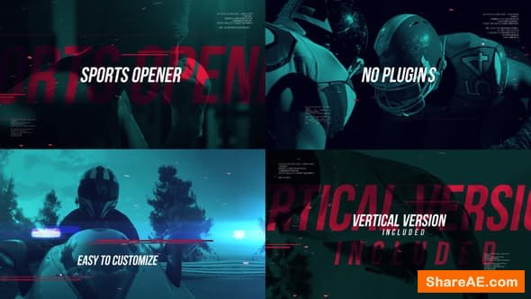 Videohive Dynamic Sports Reel