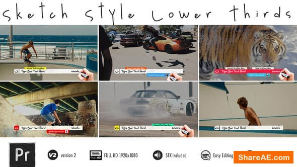 Videohive Lower Thirds - Sketch - PREMIERE PRO