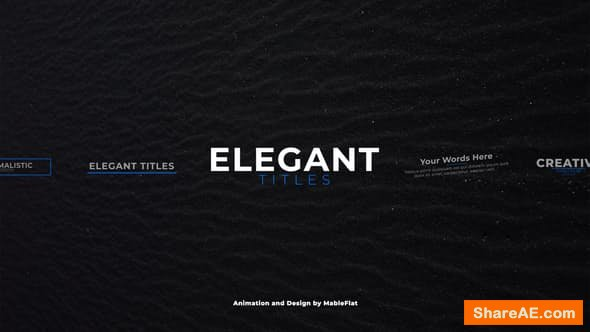 Videohive Elegant Titles - for Premiere Pro | Essential Graphics - PREMIERE PRO