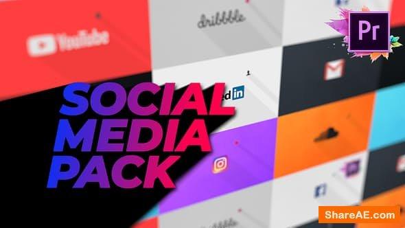 Videohive Flat Social Media Pack For Premiere Pro | Mogrt - PREMIERE PRO