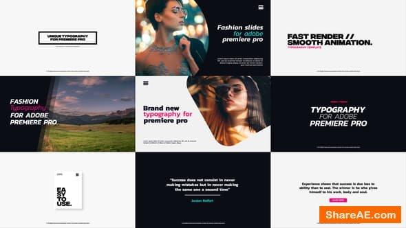 Videohive Typography - PREMIERE PRO