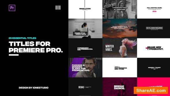 Videohive Titles - PREMIERE PRO