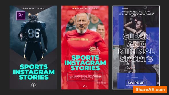 Videohive Sports Instagram Stories - PREMIERE PRO