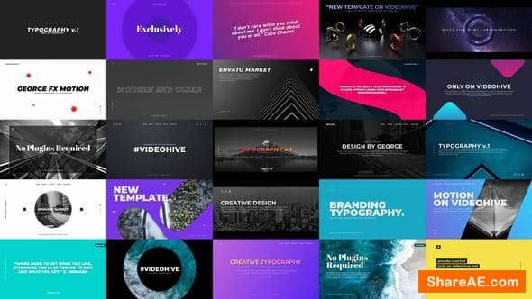 Videohive Typography Slides - PREMIERE PRO