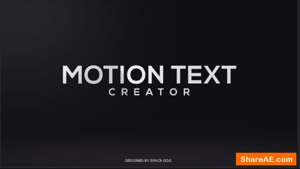 Videohive Motion Text Creator