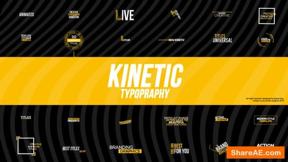 Videohive Kinetic Typography 21409048