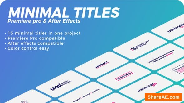 Videohive Minimal Titles - PREMIERE PRO