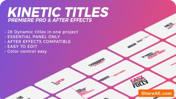 Videohive Kinetic Titles - PREMIERE PRO