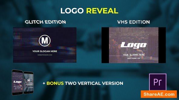 Videohive Logo Reveal - VHS & Glitch Edition - PREMIERE PRO