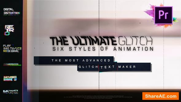 Videohive 70 Glitch Title Animation Presets Pack For Premiere Pro | MOGRT - PREMIERE PRO