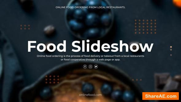 Videohive Food Slideshow - PREMIERE PRO