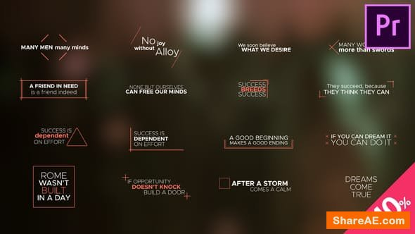 Videohive Minimal Titles and Lower Thirds - PREMIERE PRO