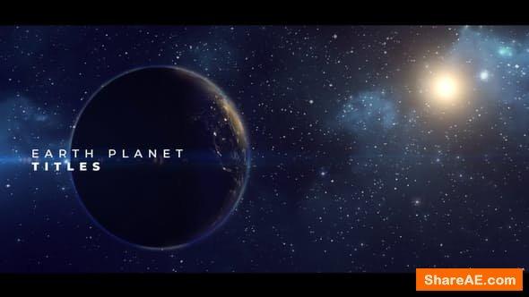 Videohive Earth Planet Titles - PREMIERE PRO