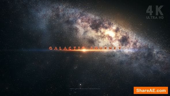 Videohive Galactic Journey Title Sequence