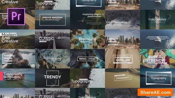 Videohive Essential Titles V.1 - PREMIERE PRO