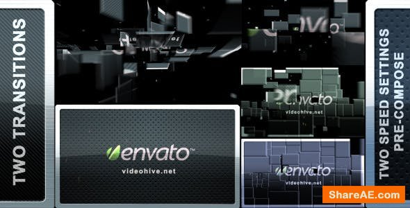 Videohive Blocks Transition (2 in 1)
