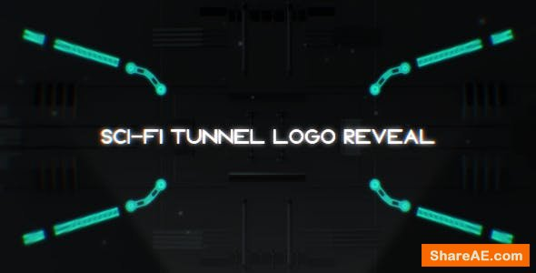 Videohive Sci-Fi Tunnel Logo Reveal
