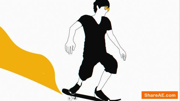 Videohive Skateboarder Logo Reveal