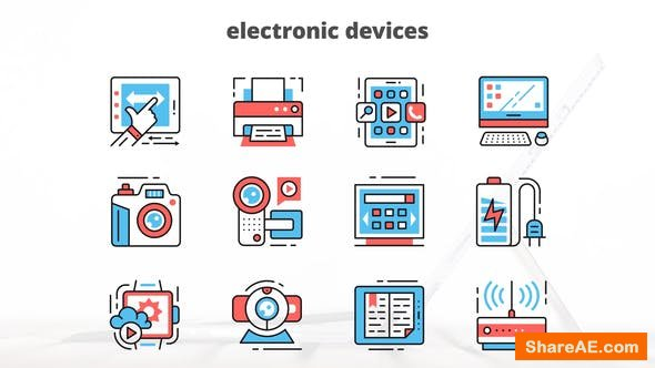 Videohive Electronic Devices – Thin Line Icons