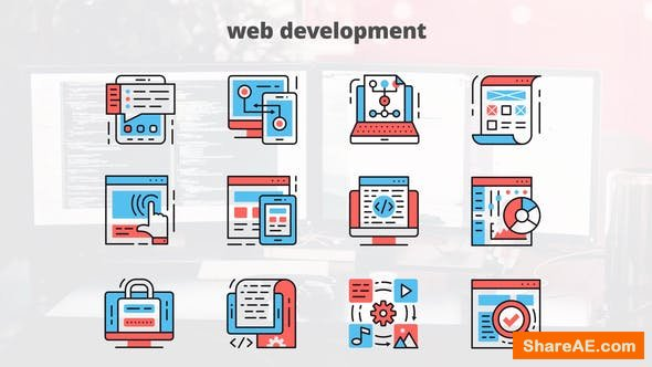 Videohive Web Development – Thin Line Icons