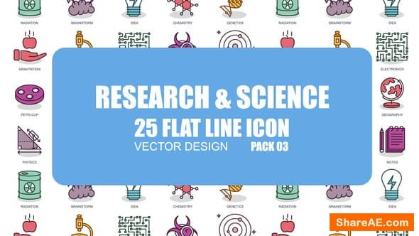 Videohive Research And Science - Flat Animation Icons