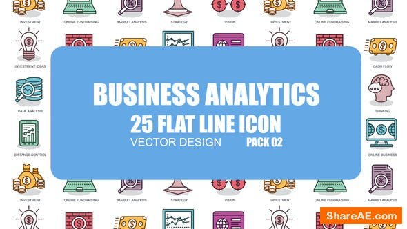 Videohive Business Analytics - Flat Animation Icons
