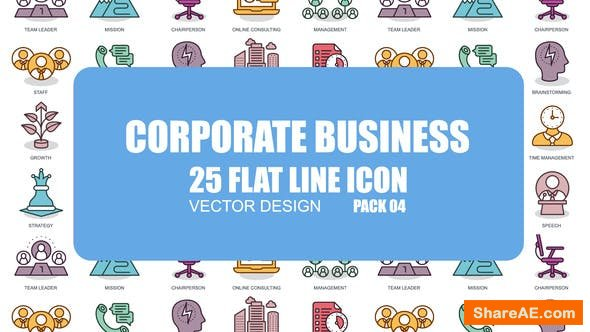 Videohive Corporate Business - Flat Animation Icons