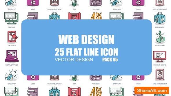 Videohive Web Design - Flat Animation Icons