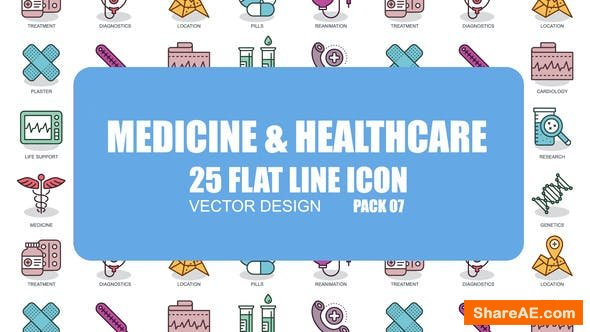 Videohive Medicine And Healthcare - Flat Animation Icons