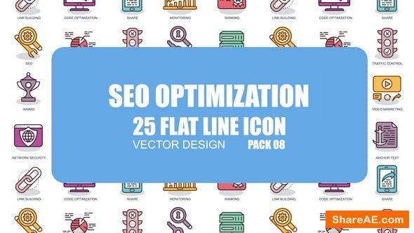 Videohive SEO Optimization - Flat Animation Icons