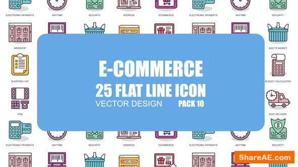 Videohive E-Commerce - Flat Animation Icons