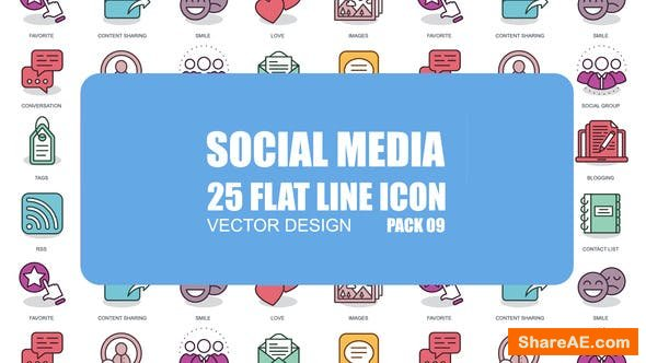 Videohive Social Media - Flat Animation Icons