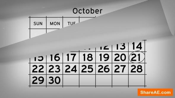 Videohive Calendar Timeline Promo