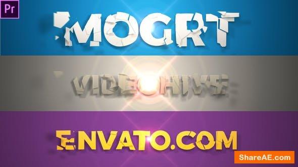 Videohive Short Elegant Title Reveal (Mogrt) - PREMIERE PRO