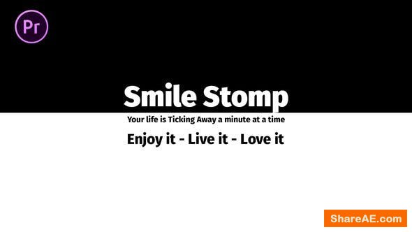 Videohive Smile Stomp | Essential Graphics | Mogrt - PREMIERE PRO