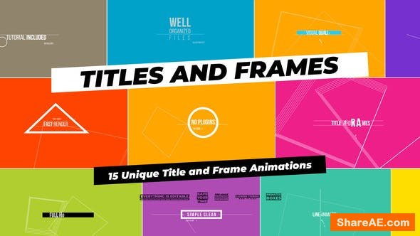 Videohive Titles And Frames